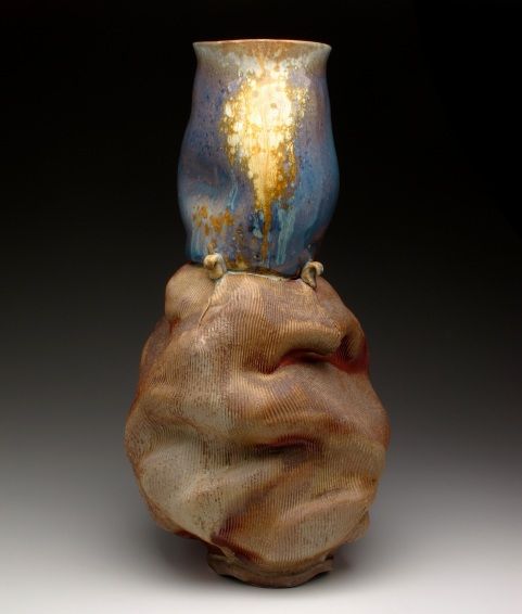 Blue with Ash Vase