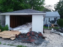 tear down your old garage