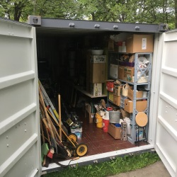 studio equipment / tools in front yard storage